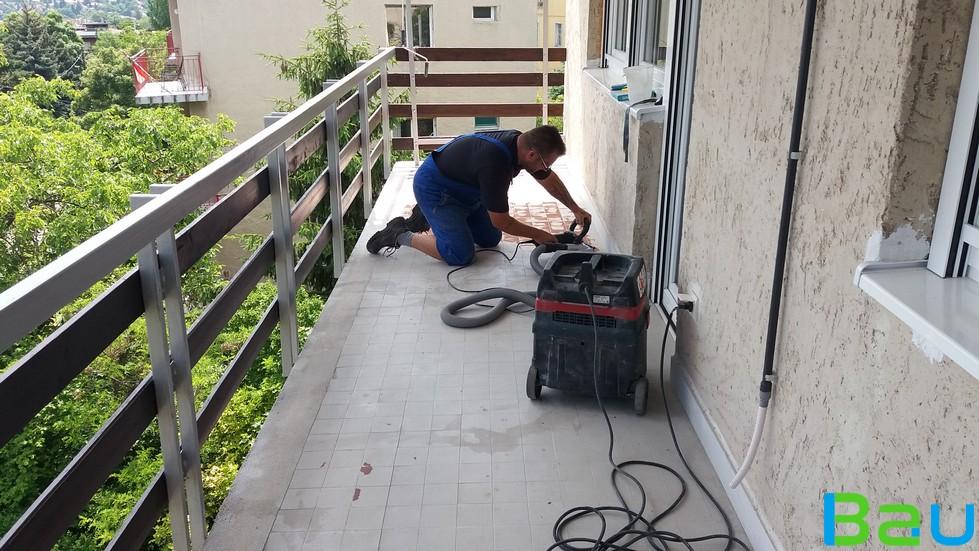 műgyanta teraszon, erkélyen